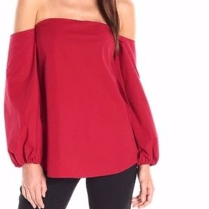 Theory Laureema Off The Shoulder Top NEW